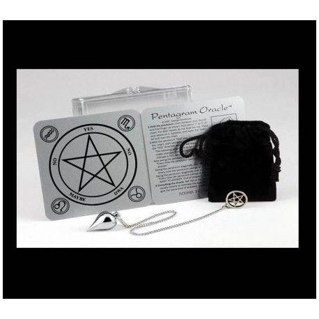 set Pentagram Staat  Nieuw  Deze complete Pendel Oracle Kit is ideaal voor gebruik door een beginneling en om mee te nemen.