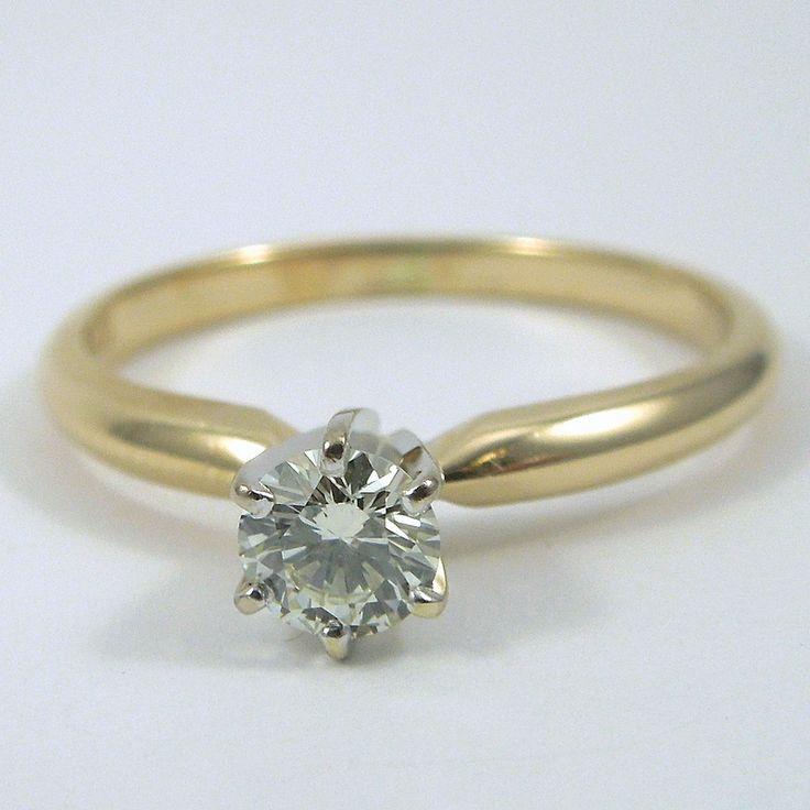Superb k Yellow Gold u Diamond Engagement Ring
