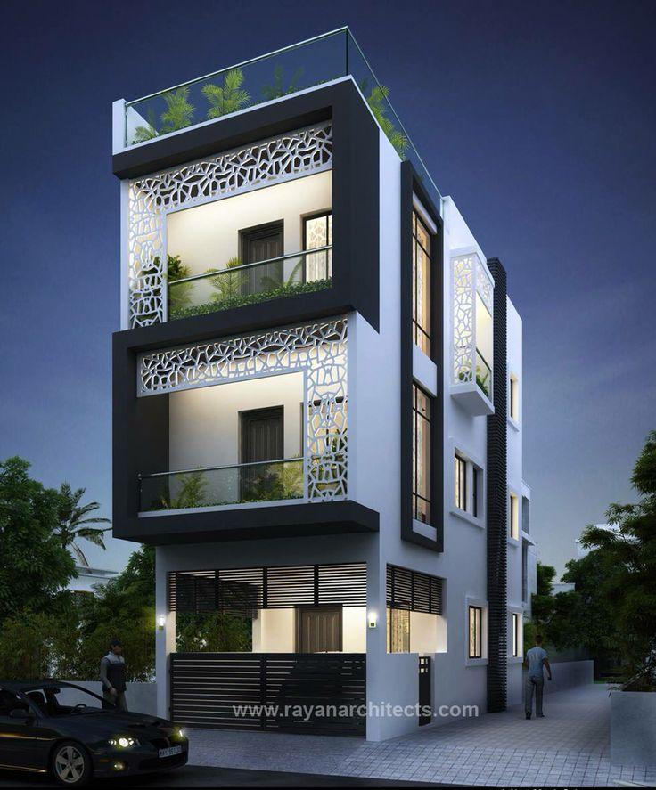 Best 25 front elevation ideas on pinterest craftsman for Fachadas de apartamentos pequenos