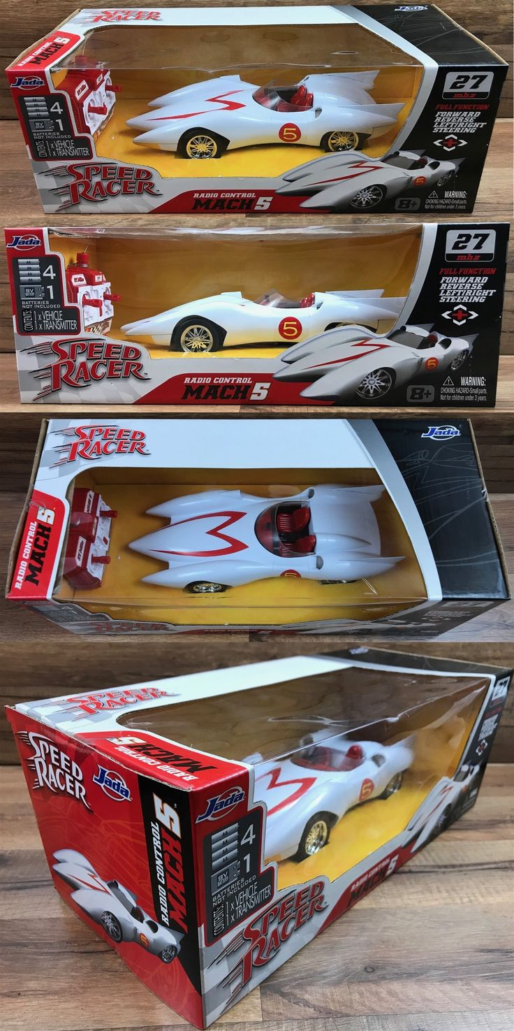 Speed racer 19244 2007 jada speed racer mach 5 rc remote control car full function