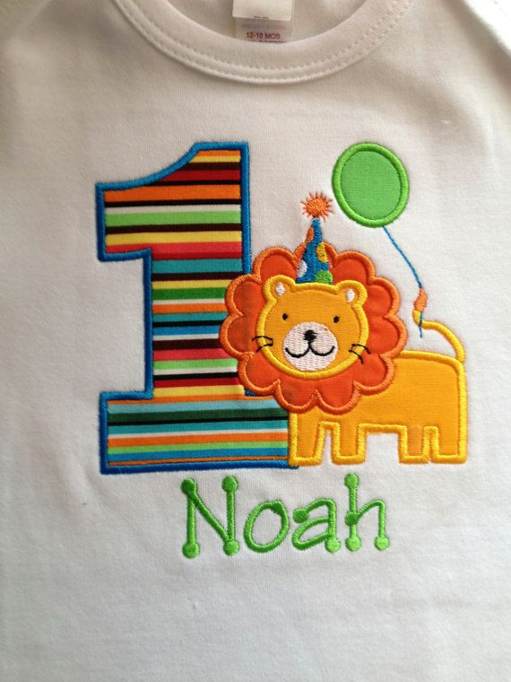 Lion Safari Themed Personalized Birthday Shirt or by grammeshouse, $26.00