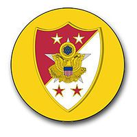 The collar insignia of the SMA is the shield portion of the collar insignia of anaide-de-camp to the Army Chief of Staff(less the surmounting eagle), placed upon anenlisted collar diskof gold color, one inch in diameter. The insignia worn by SMA Wooldridge was hand-soldered by Colonel Jasper J. Wilson from a cannibalized aide's insignia and enlisted collar brass. The insignia was approved on 4 July 1966.[5]Originally, the SMA would wear the device on each collar, but he now wears the…