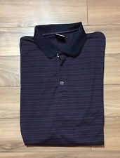 Nike Golf XXL Polo Shirt Black Purple Stripe Mens | eBay