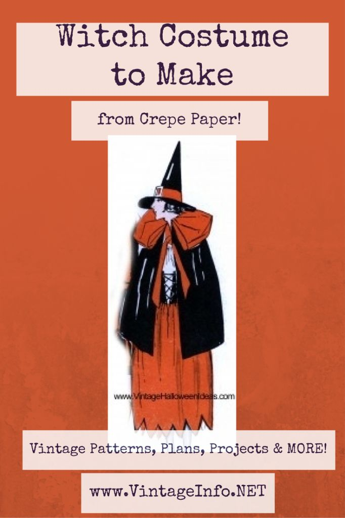 Witch Costume to Make http://vintageinfo.net/homemade-witch-costume/ #halloweencostume #witchcostume