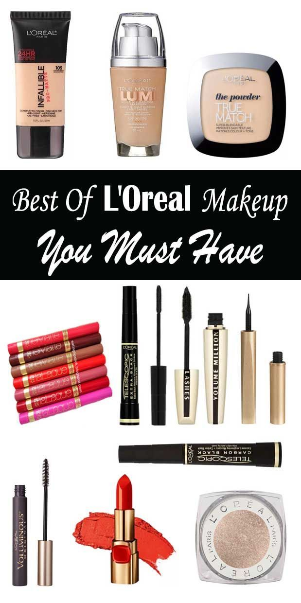 Best Of Loreal Makeup Products Foundation Eyeshadow Lipstick Mascara Prowder Primer Eyliner Loreal Makeup Products Loreal Makeup Makeup Brushes Guide