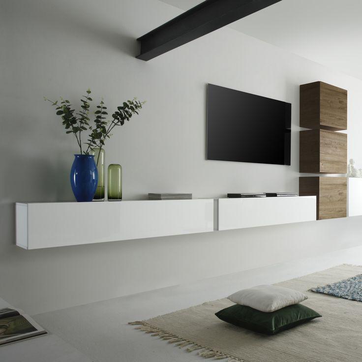 Wall Unit Como Vii 6 Pcs Weisse Wande Wohnzimmer Designer Wohnwand Wohnwand Weiss