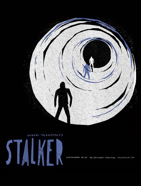 2011 rep screening poster for STALKER (Andrei Tarkovsky, USSR, 1979)    Artist: Sam Smith