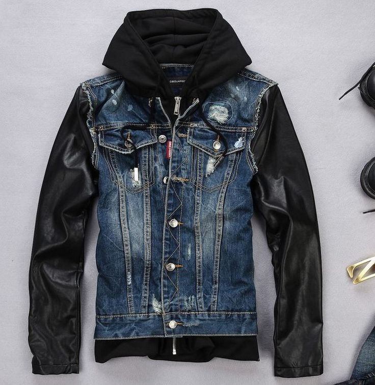 25  best Hooded denim jacket mens ideas on Pinterest | Male style ...