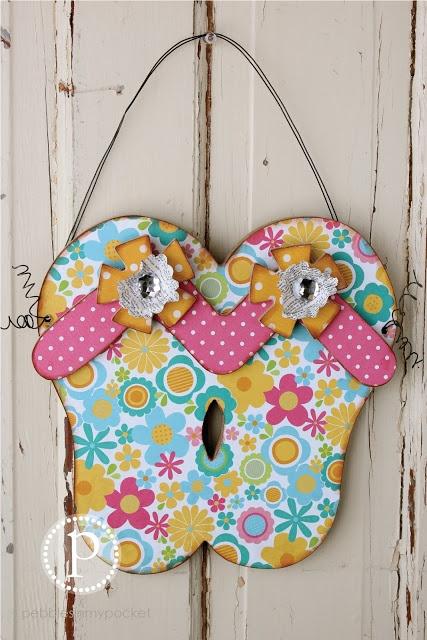Summer flip flops wood craft by for Flip flops for crafts