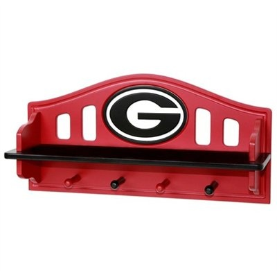Georgia Bulldogs Shelf with Pegs