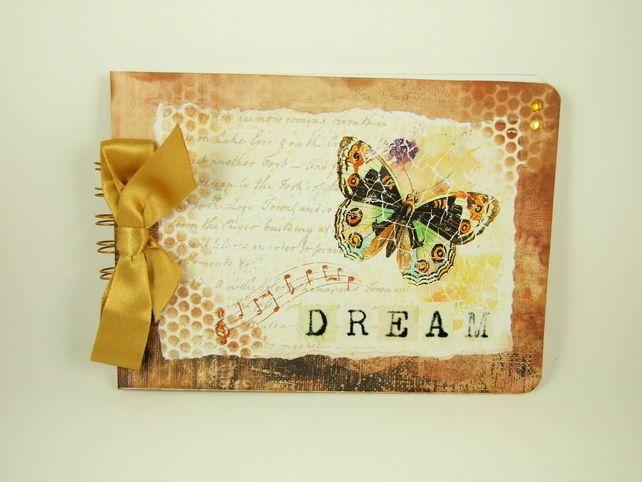 Memory Book, Mocha Butterfly, A5 Scrapbook, Photograph Album,  Journal £6.95