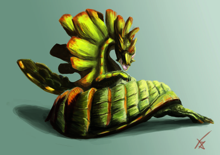 digital painting - Najarala / Monster Hunter    by Adilas