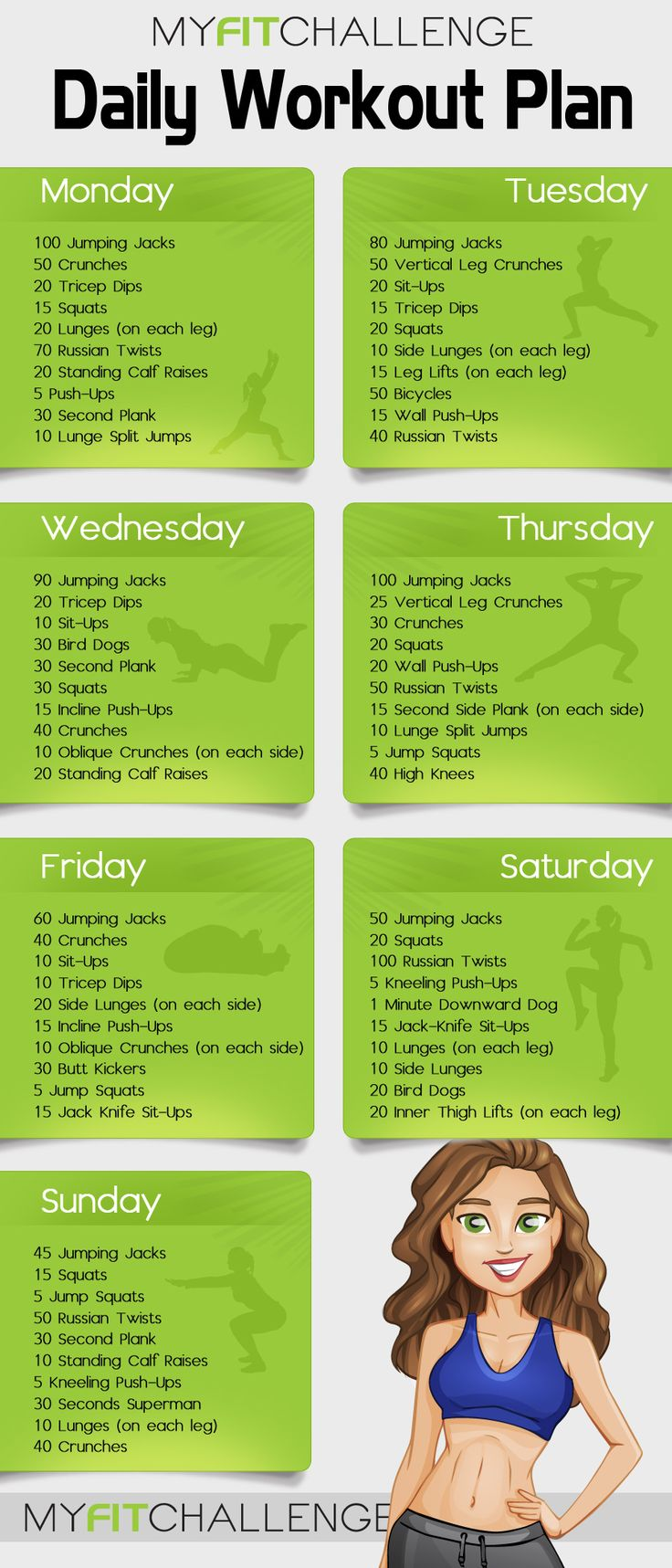 daily exercise Trying to fit a daily exercise routine into a packed modern lifestyle can be a tricky proposition but here are easy ways to fit exercise into your routine.