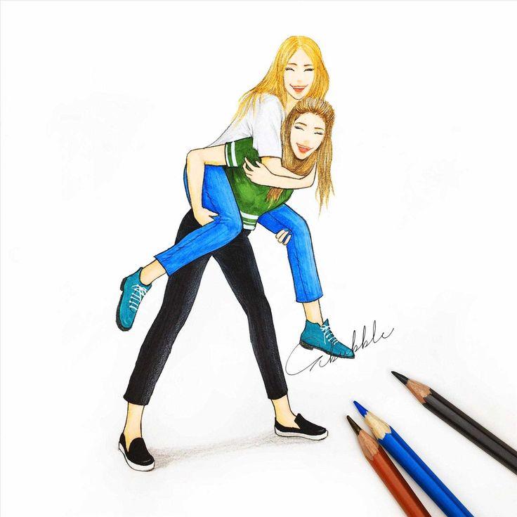 Image result for bff drawings | Bedste venner, Idéer til tegning, Tegning inspiration
