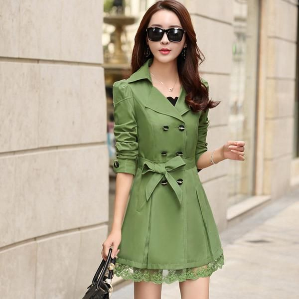LadyIndia.com #Imported Winter Wear, Special Windbreaker Women's Winter 2015 New Women's Coat Korean Slim Long, Imported Winter Wear, https://ladyindia.com/collections/western-wear/products/special-windbreaker-womens-winter-2015-new-womens-coat-korean-slim-long