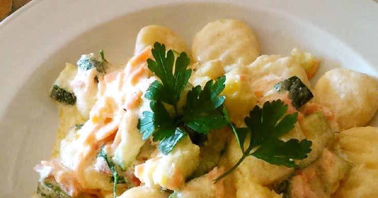 鮭とズッキーニのクリームニョッキ by tabi_chan 【クックパッド】 簡単おいしいみんなのレシピが275万品