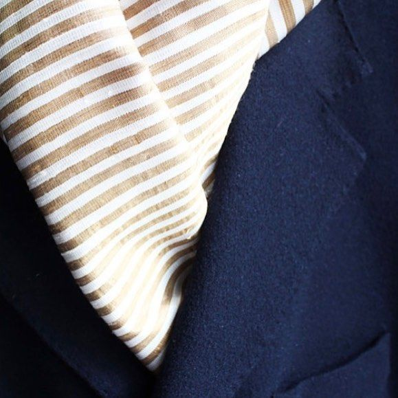 A touch of gold in this Lucas handwoven scarf.  Made from decadent raw golden silk. #ES