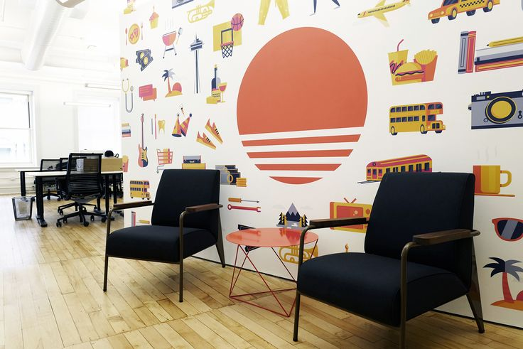 """Consulta este proyecto @Behance: """"Sunrise App Mural"""" https://www.behance.net/gallery/45597939/Sunrise-App-Mural"""