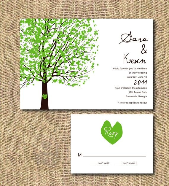 I really love any invitation that reminds me artwork from stories I loved growing up, such as - The Giving Tree!