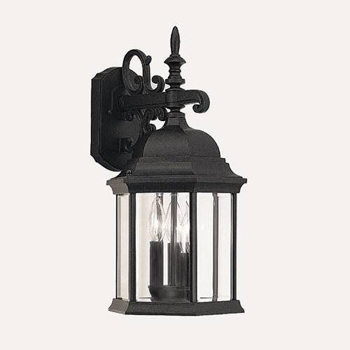 Designers Fountain 2981 BK 3 Light Height Devonshire Outdoor Sconce, Black