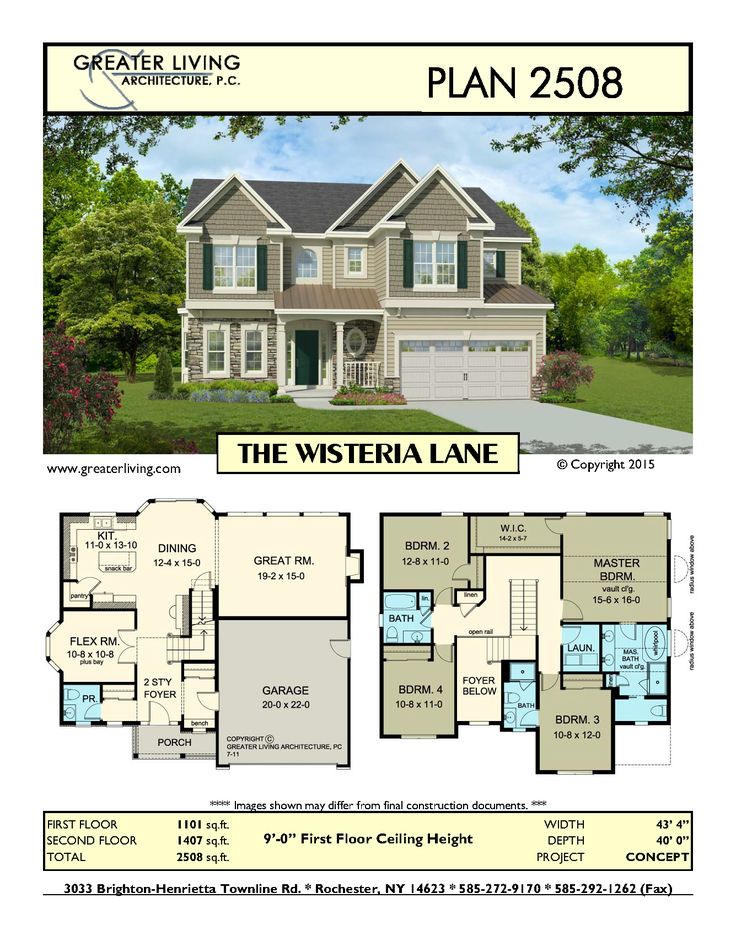 Plan 2508: THE WISTERIA LANE -House Plans - Two Story House Plans - 2 Story…