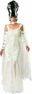 Costume Ideas for Women: Creepy Bride of Frankenstein Costumes for Halloween