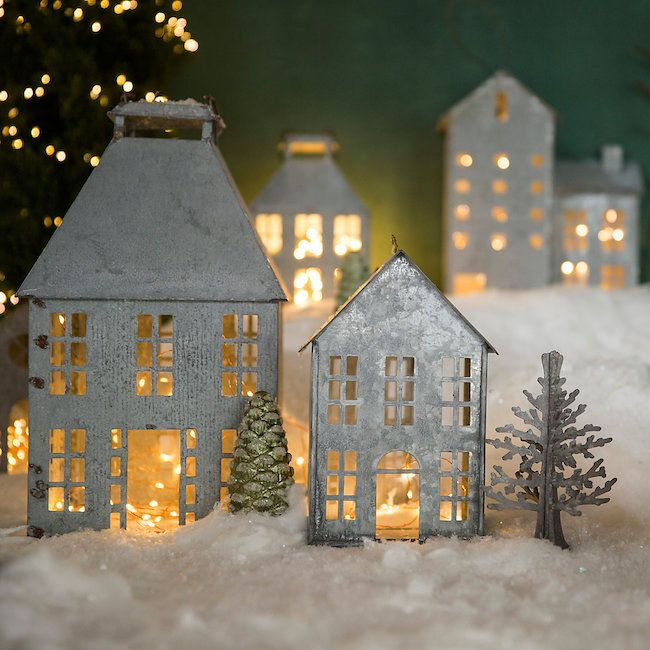 Simply Inspired Holidays: Zinc Winter Village