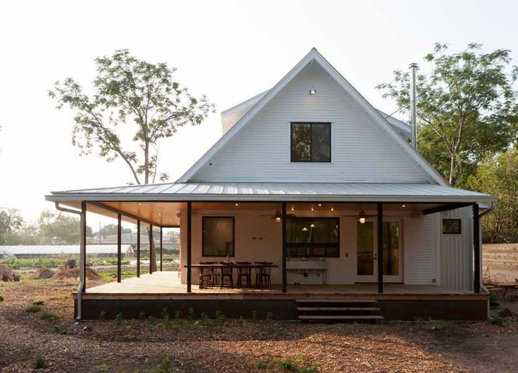 Beautiful Silver Roof Home w/ Steel Construction Porch (HQ Pictures) | Metal Building Homes