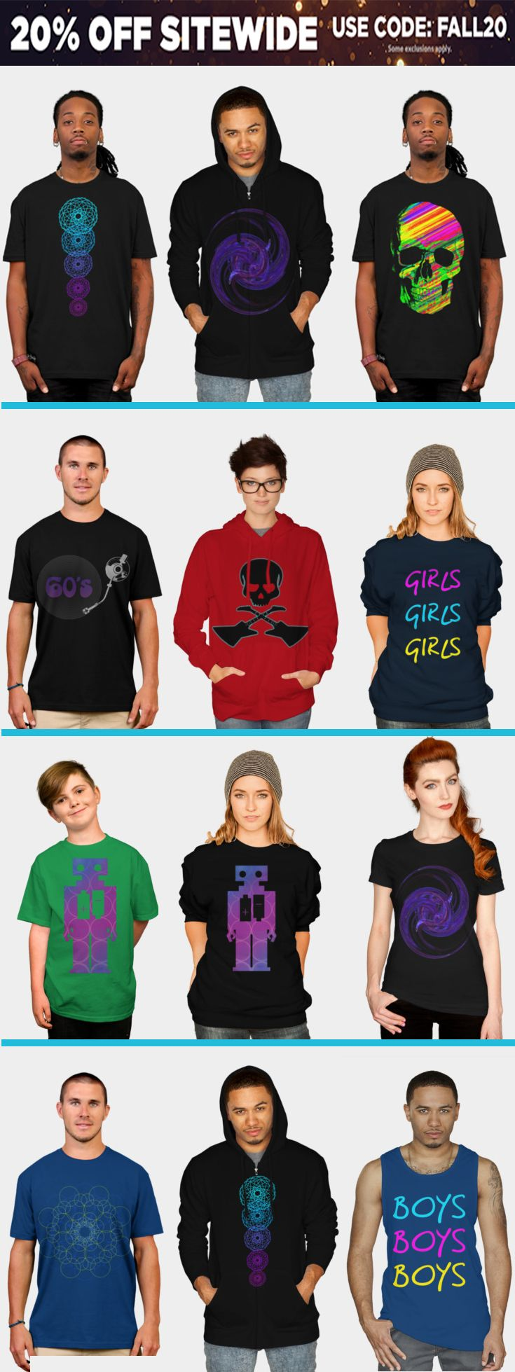 20% OFF Everything!!! Use code: FALL20. #tshirts #sales #discount #save #apparelsales #gifts #giftsforhim #giftsforher #freeshipping   #onlineshopping #onlinesellers #tshirts #mensfashion #fashion #style #womensfashion #hoodies #hoody #ziphoody #kidstshirt #clothing  #39 #family #skulltshirt #geometrictshirt #designbyhumans #scardesign #monstertshirt #robottshirt