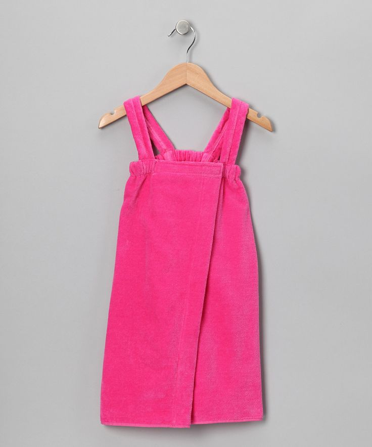 Look at this Terry Town Hot Pink Terry Velour Wrap Cover-Up - Girls on #zulily today!