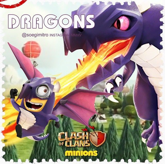 Clash of Clans Minions  Dragons