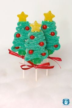 10 brochettes de bonbons d'arbre de Noël par SweetsIndeed sur Etsy