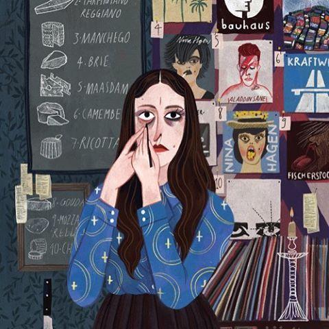 A master of the smokey eye Illustration by julia sarda