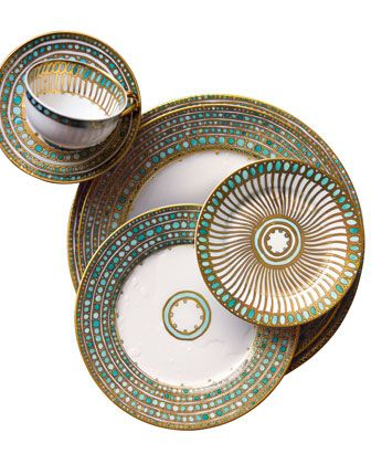 Syracuse Turquoise Saucer by Haviland & Parlon at Neiman Marcus.