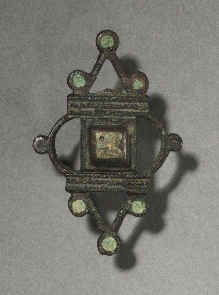 Ornamental brooch, bronze and champlevé enamel. Gallo-Roman or Romano-British, Migration period, 2nd-3rd century
