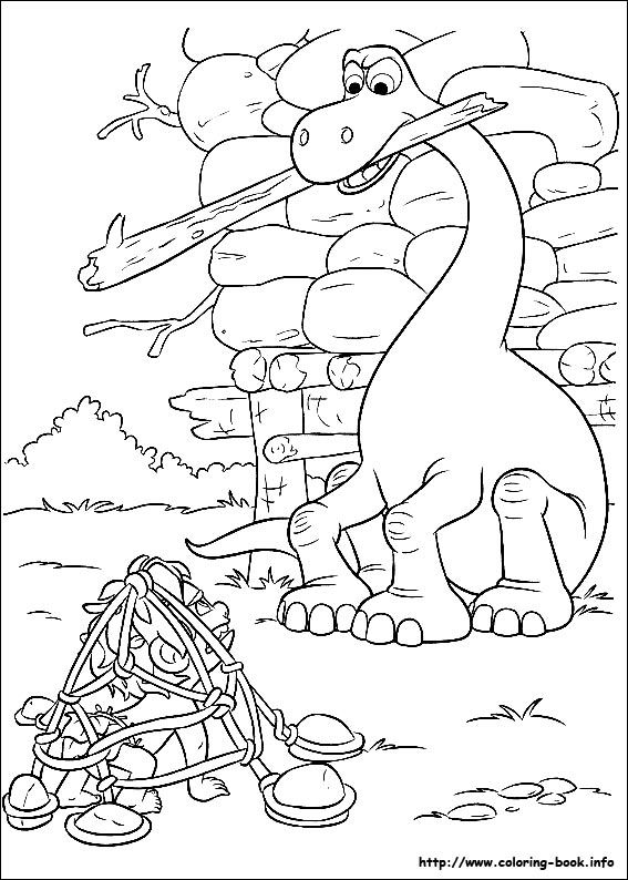 The Good Dinosaur coloring picture