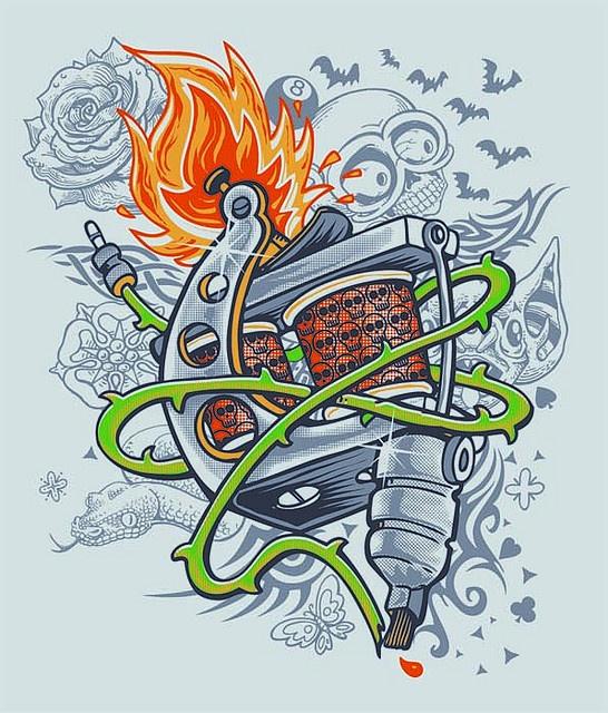 tattoo machine by sassa cartum, via Flickr