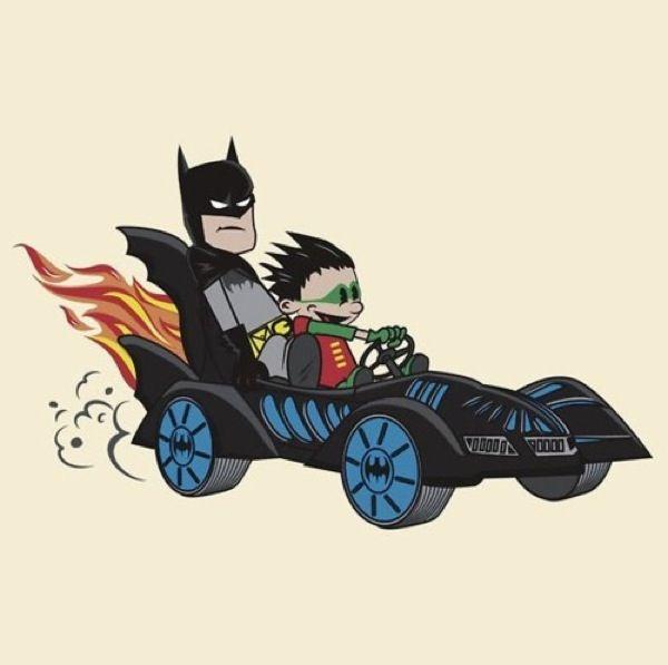 Batman meets Calvin & Hobbes