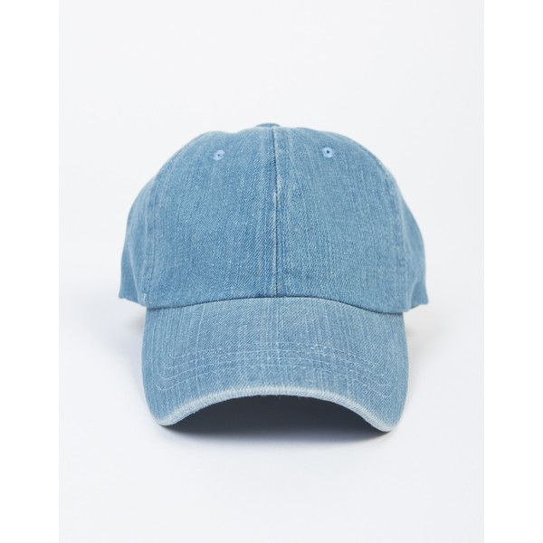 Blue Jean Baseball Cap ($11) ❤ liked on Polyvore featuring accessories, hats, light blue denim, baseball caps, ball cap, blue hat, baseball cap hats and baseball hats
