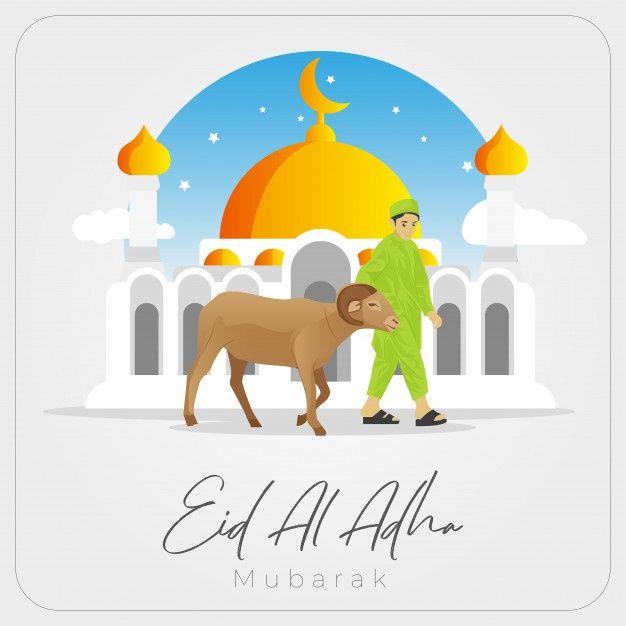 Eid Al Adha Mubarak Greetings Card In 2020 Eid Al Adha Greetings Eid Al Adha Free Greeting Cards