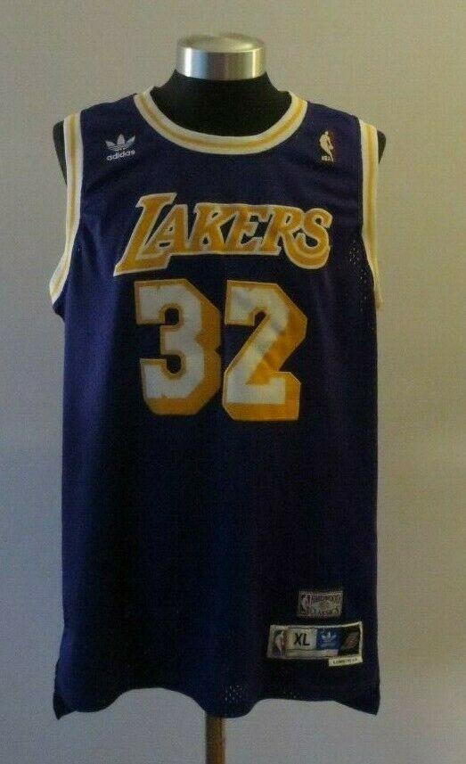 premium selection b85aa 82750 NBA LA Lakers Adidas 1979-1980 Magic Johnson #32 Hardwood ...