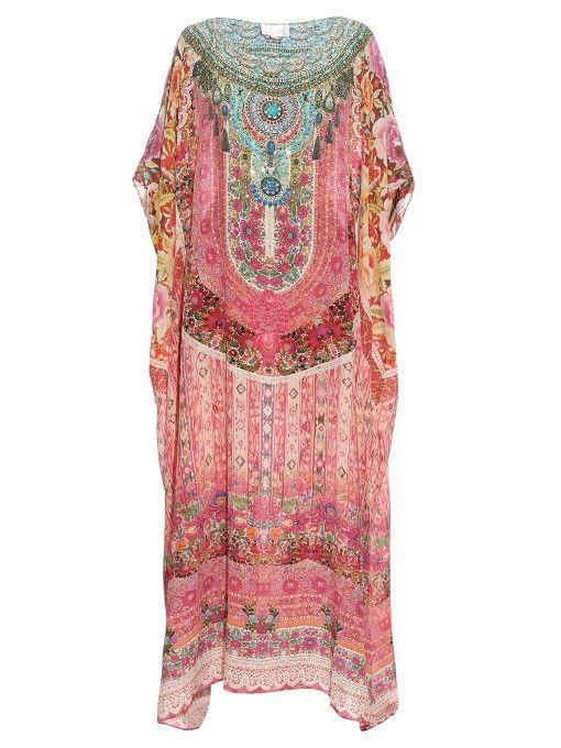 CAMILLA Belleza Flor-print silk-crepe kaftan. #camilla #cloth #kaftan
