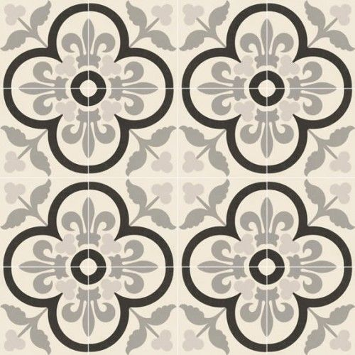 Moroccan Style Glazed Ceramic Eternia Negro 20x20x0.9 cm