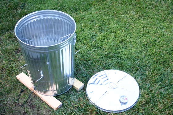 Garbage Can Turkey Smoker. No, I don't know if it works, but it seems like an interesting concept.