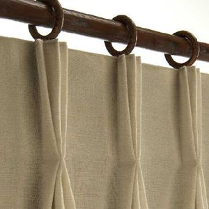 Hanging Pinch Pleat Curtains With Clip Rings