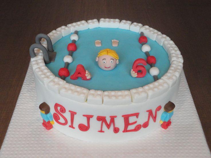 Lego / zwem taart