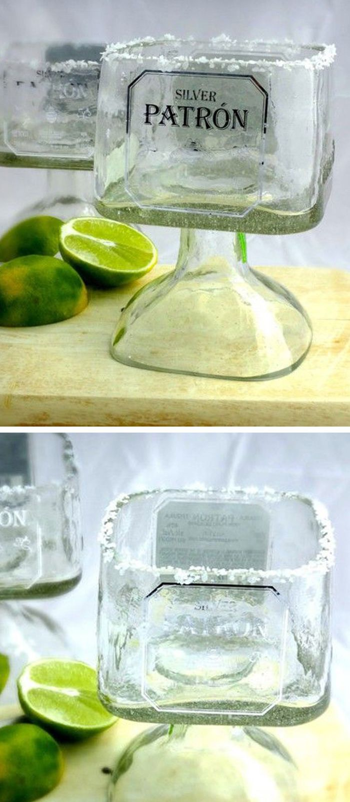 Patron tequila bottle recycled glass #product_design