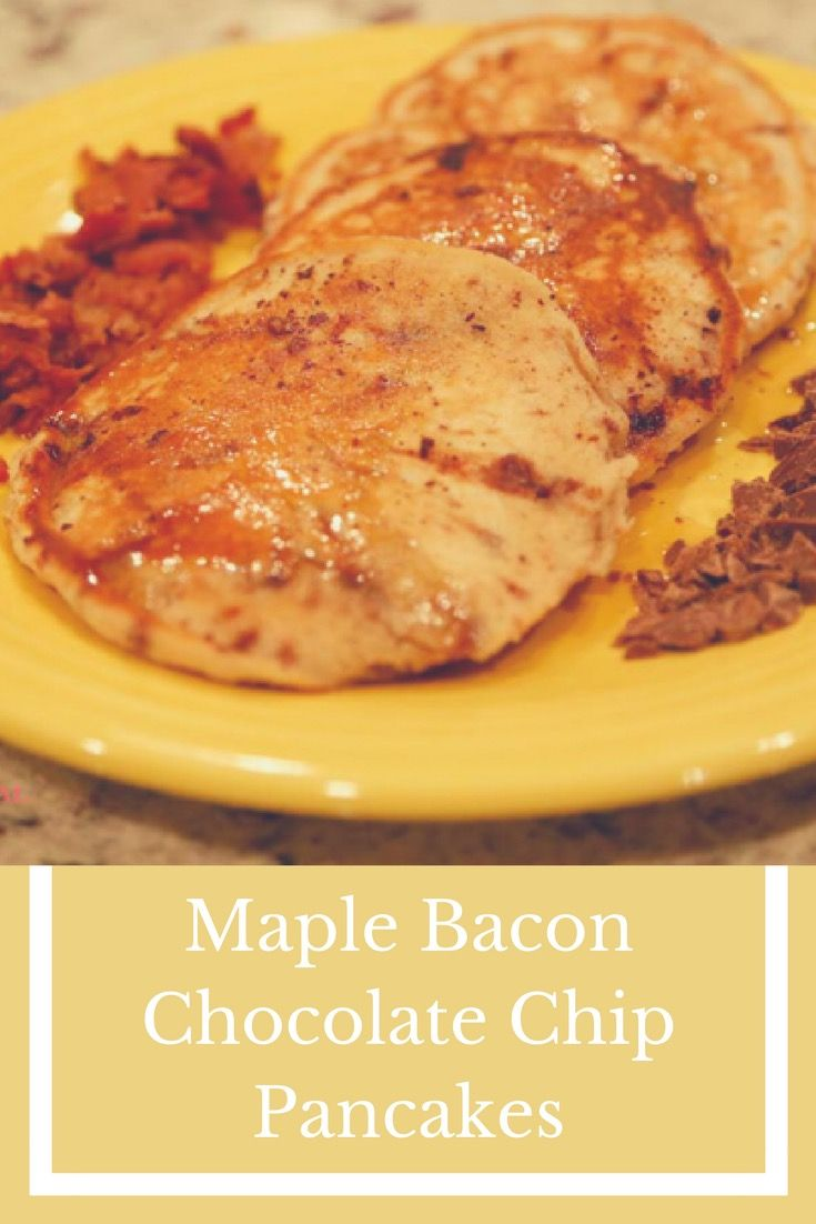 Maple Bacon Chocolate a Chip Pancakes from The Accidental Mrs.