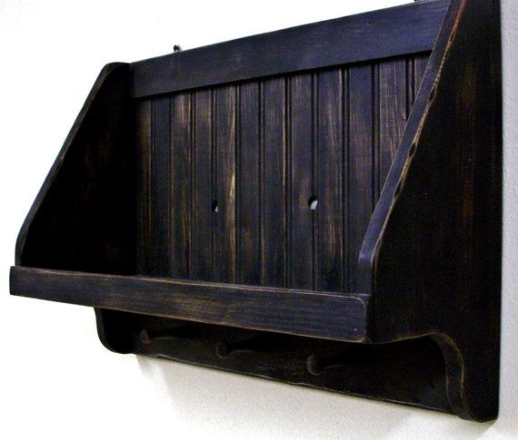 Why did I build a house with so many windows and not enough wall space for all of these wonderful shelves ;) Rustic Amish black Primitive shelf with shaker pegs by MVwoodworks, $49.00