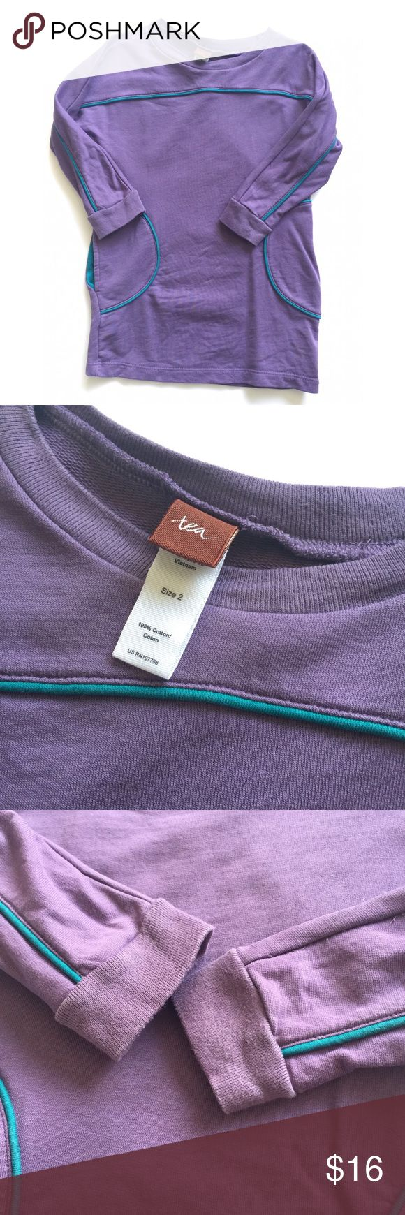 Tea Collection Dress Purple dress long sleeve with pockets adorable on Tea Collection Dresses Casual